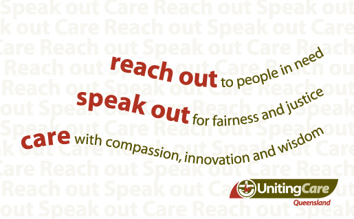 UnitingCare Queensland logo and banner