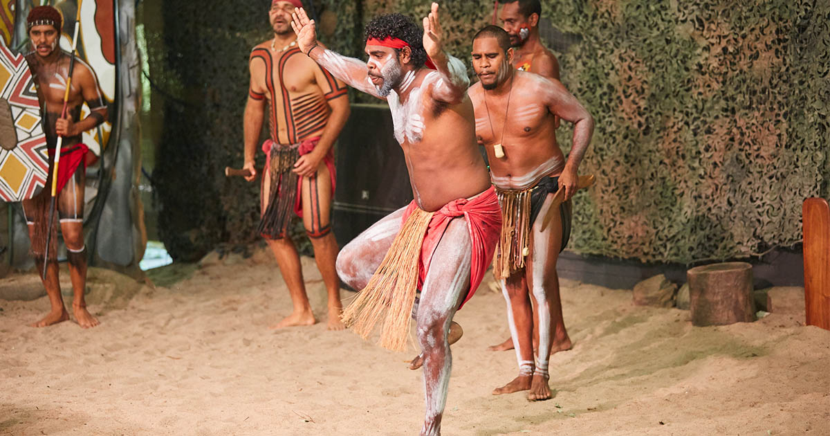 Aboriginal man performing dance